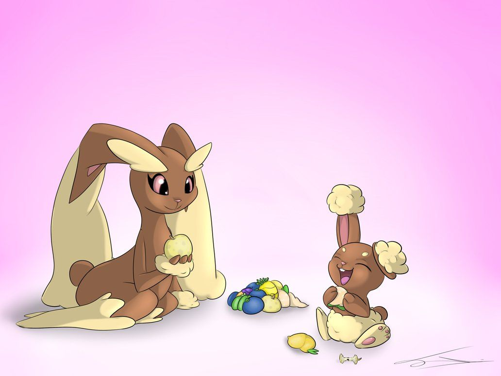 Buneary and Lopunny by JollyThinker on DeviantArt