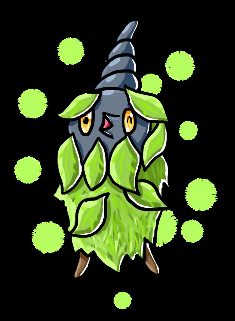 Shiny Plant-Cloak Burmy by HarmonyRocketEeveon on DeviantArt
