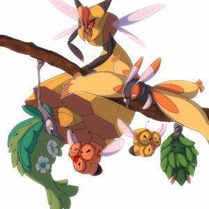 download Vespiquen, Combee, Burmy, Wormadam, and Mothim   Pokemon 2   Pinterest