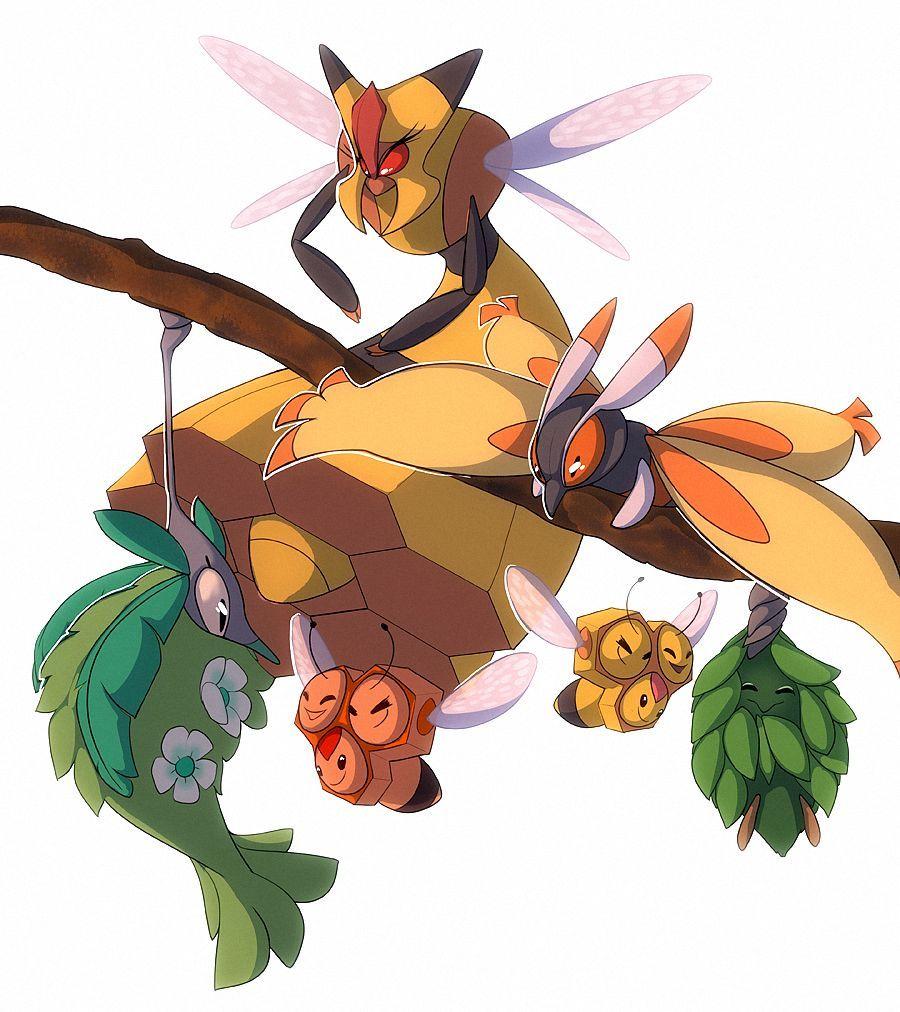 Vespiquen, Combee, Burmy, Wormadam, and Mothim   Pokemon 2   Pinterest