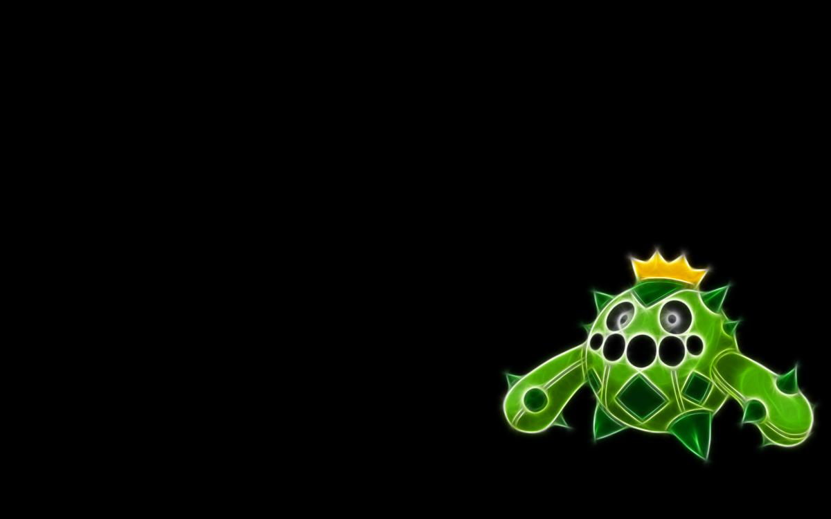 Pokemon, black background, Cacnea – Free Wallpaper / WallpaperJam.com