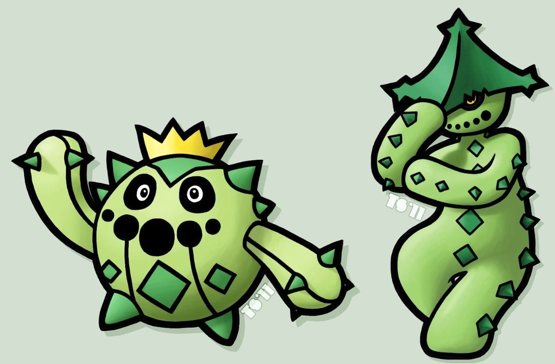 Cacnea and Cacturne by TheSerotonin on DeviantArt
