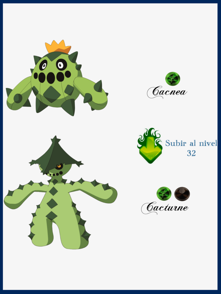 156 Cacnea Evoluciones by Maxconnery on DeviantArt