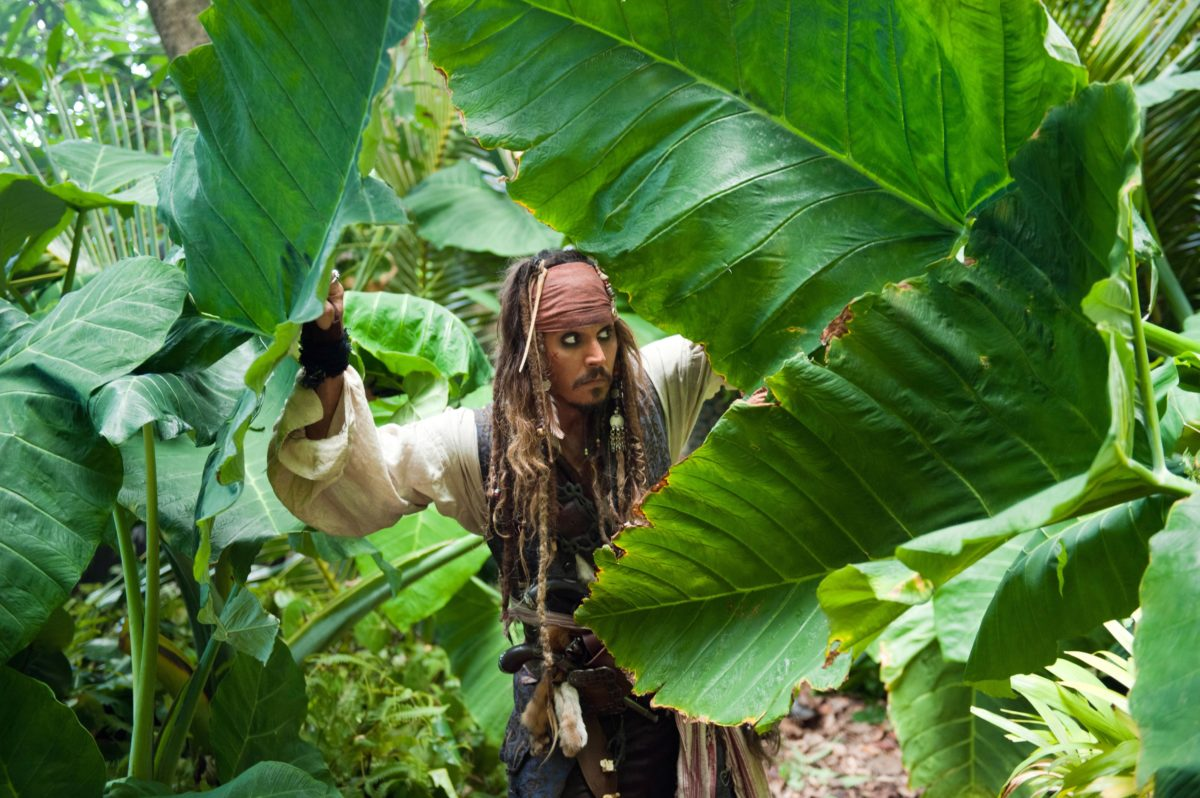 Captain Jack Sparrow from Pirates of the Caribbean Desktop Wallpaper