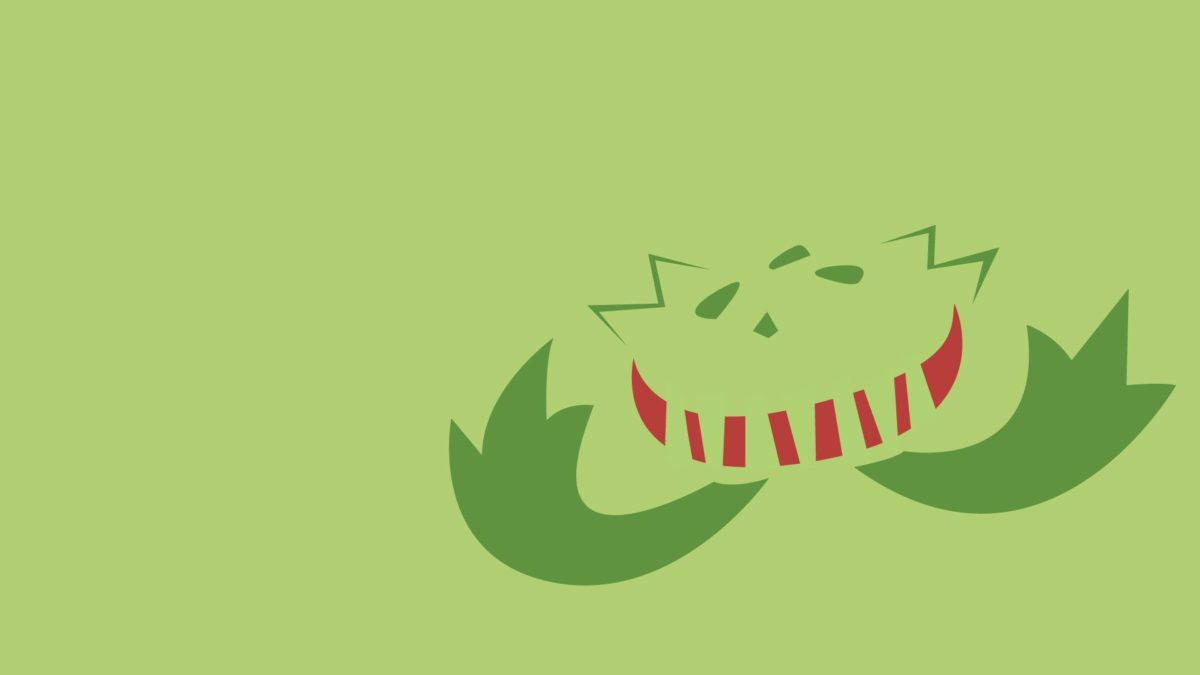 Carnivine, Minimalism, Green Background wallpaper | anime …