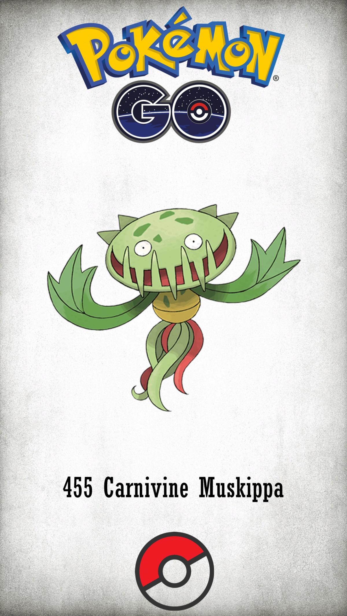 455 Character Carnivine Muskippa | Wallpaper