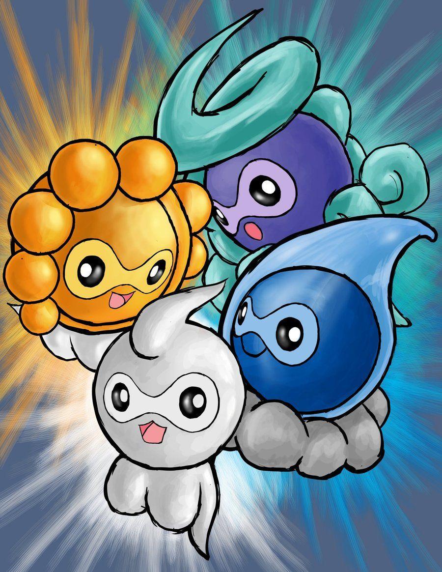 Pokemon Fanart – Castform's All Forms by KouKhangAnimation on DeviantArt