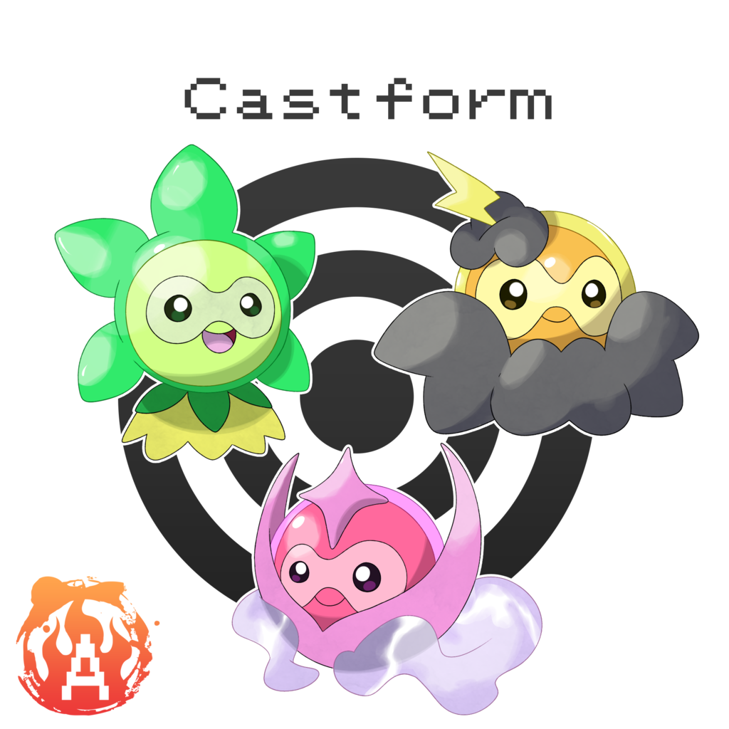 Castform Grassy, Misty, and Stormy Form #— by Austinferno on …