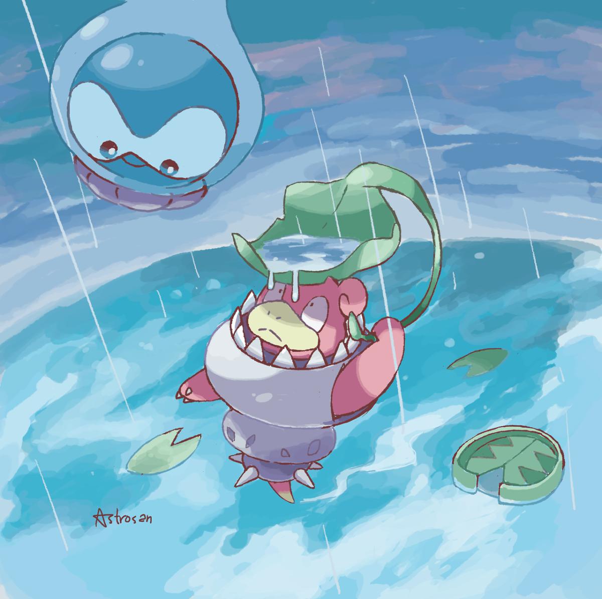 Mega Slowbro and Castform Fanart [Astrosan] : pokemon