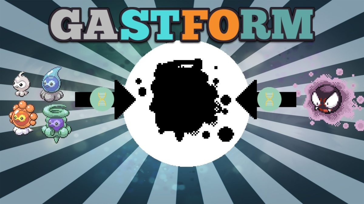 Pokemon Sprite Fusions: Gastly & Castform, the making of GASTFORM …