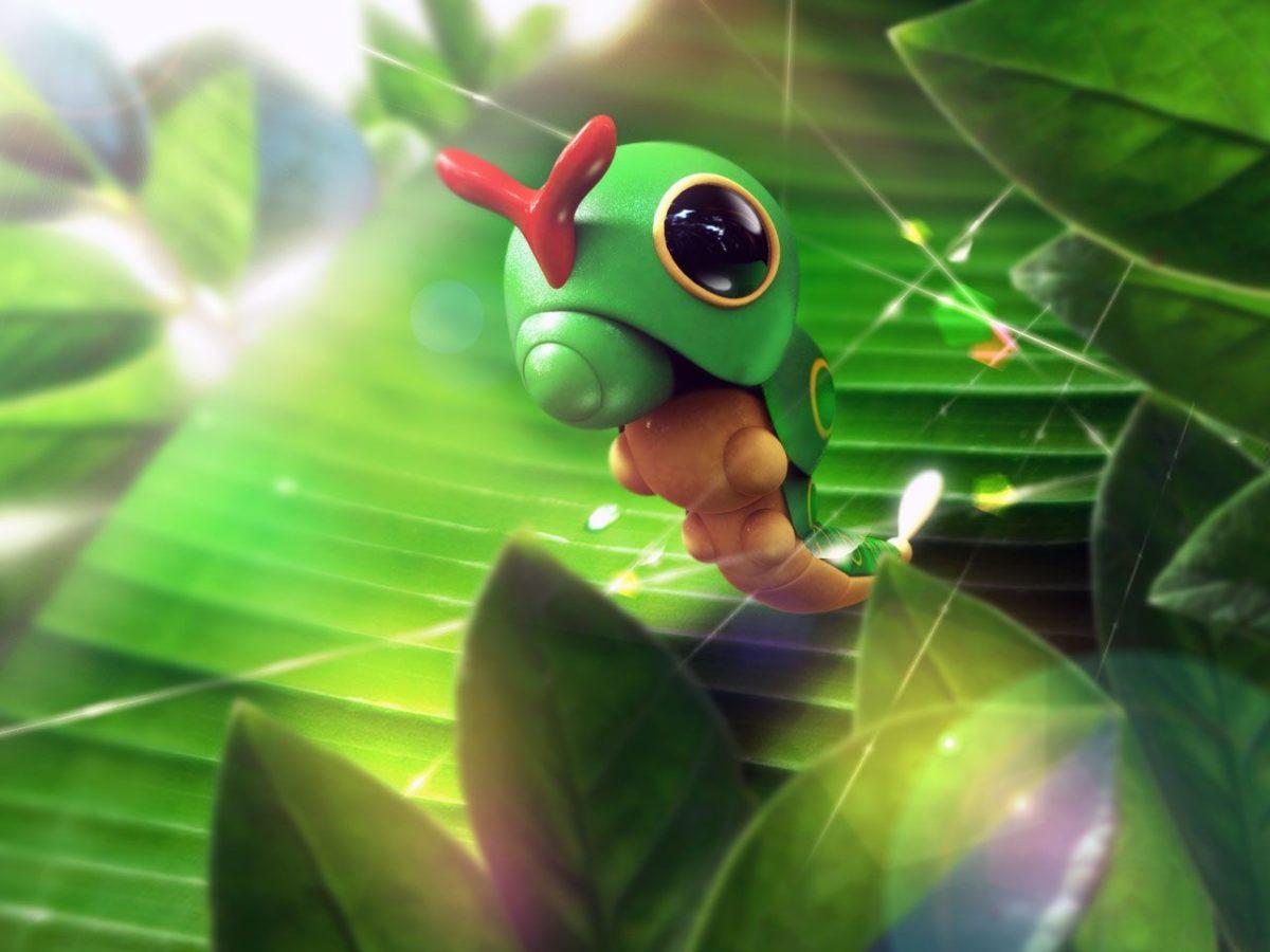 pokemon, plants, Caterpie :: Wallpapers