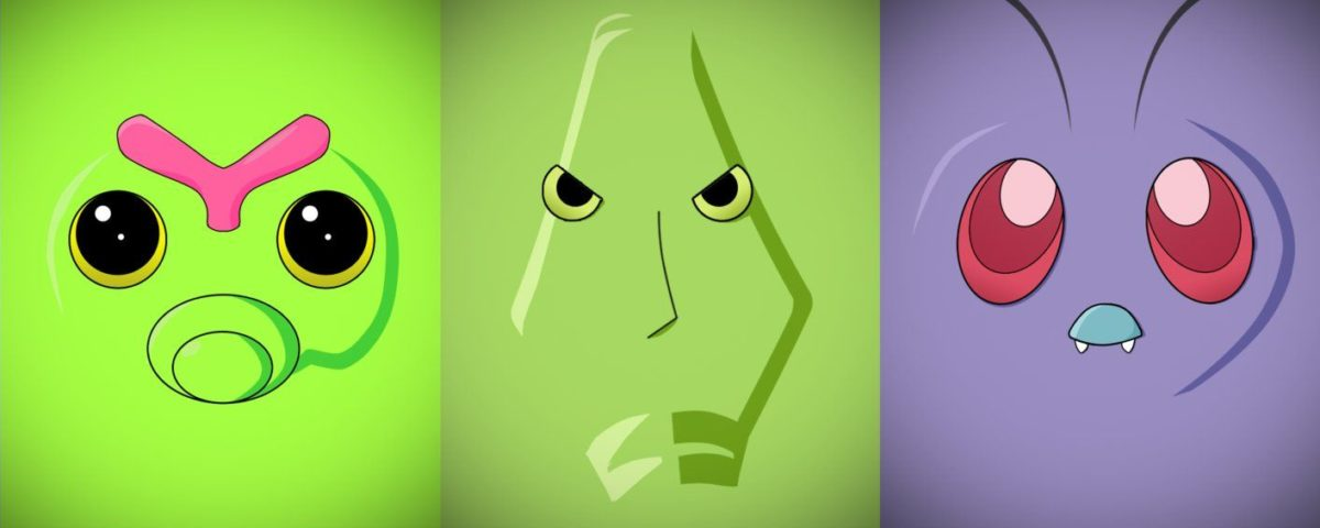 Minimalist Caterpie, Metapod and Butterfree by Vault–Girl on …