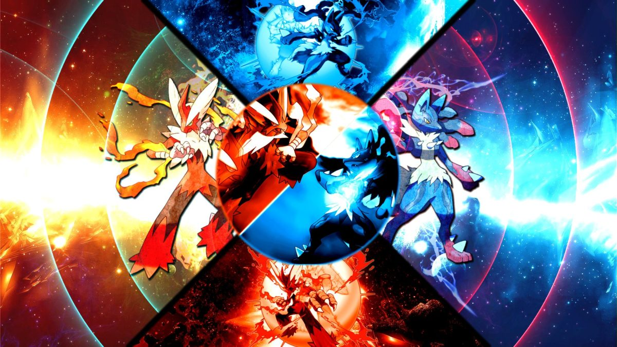 Pokemon Mega Charizard Fight Anime Wallpaper F #7088 Wallpaper …