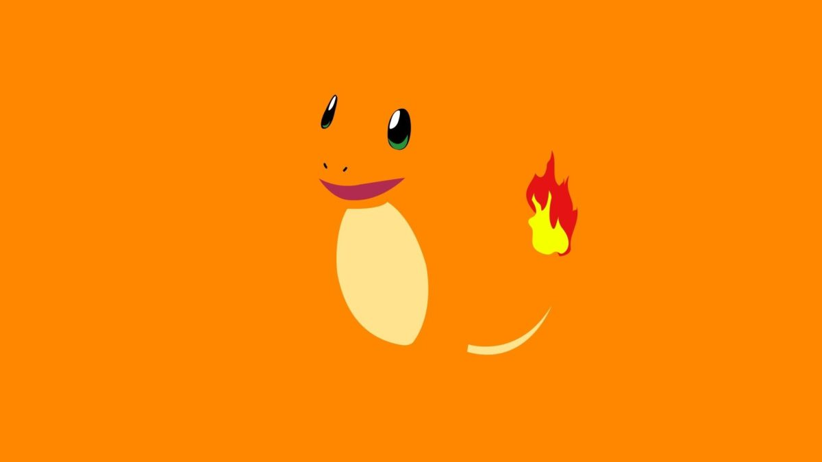 pokemon minimalistic yellow fire orange charmander 1920×1080 …