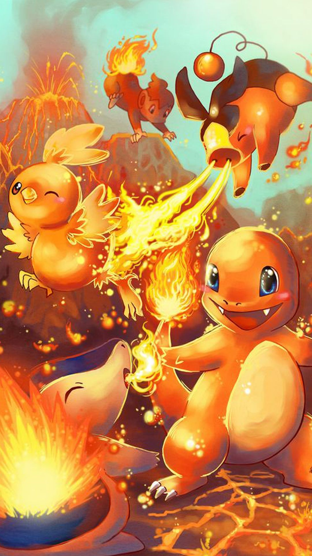 Pokemon Go Charmander fire characters Iphone hd wallpaper | Wallpaper