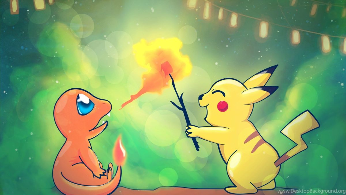 Original Art] Charmander And Pikachu [3543×2214] : Wallpapers …