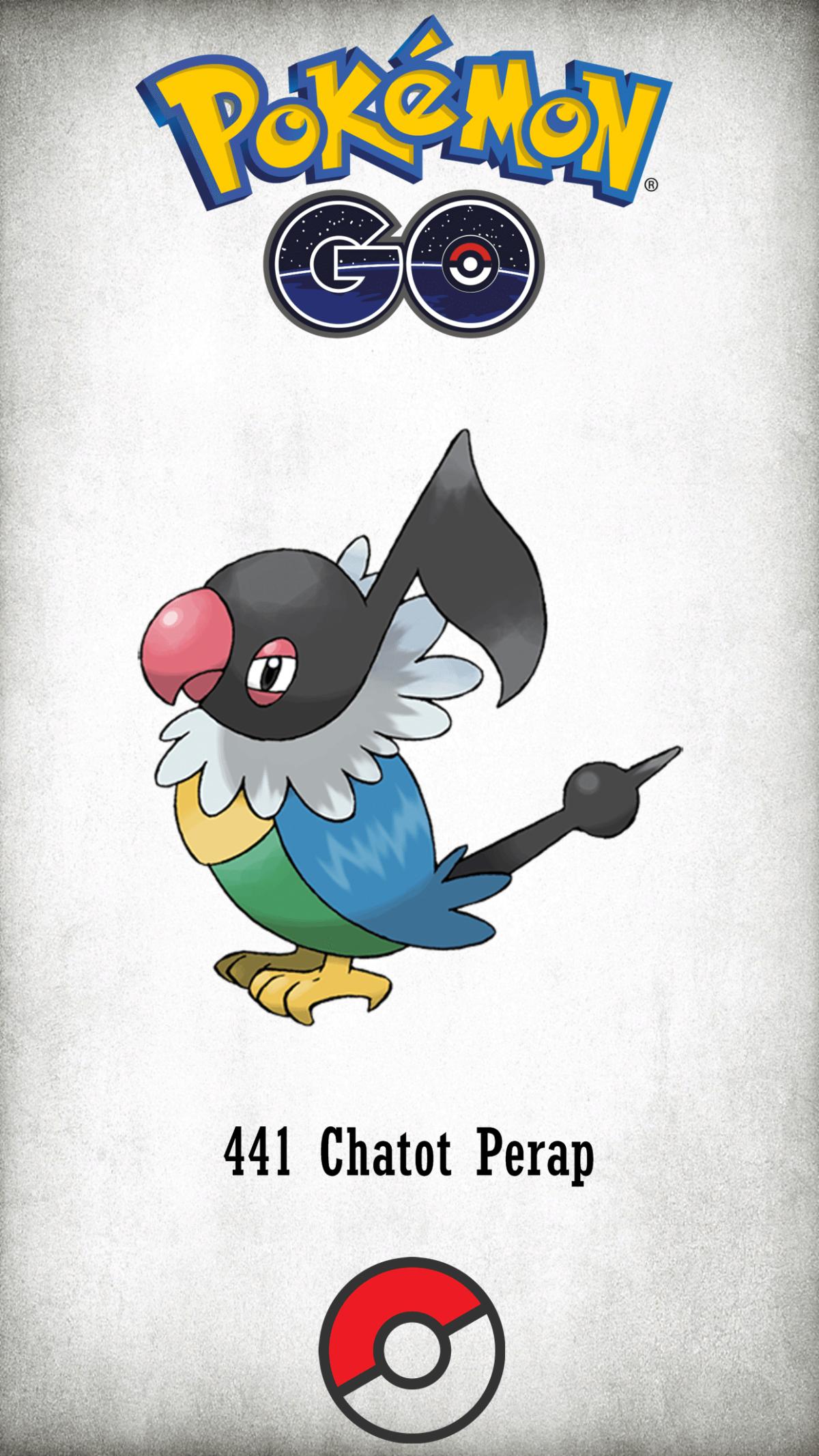 441 Character Chatot Perap | Wallpaper