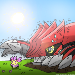 download Groudon and Cherrim by snowy-inferno on DeviantArt