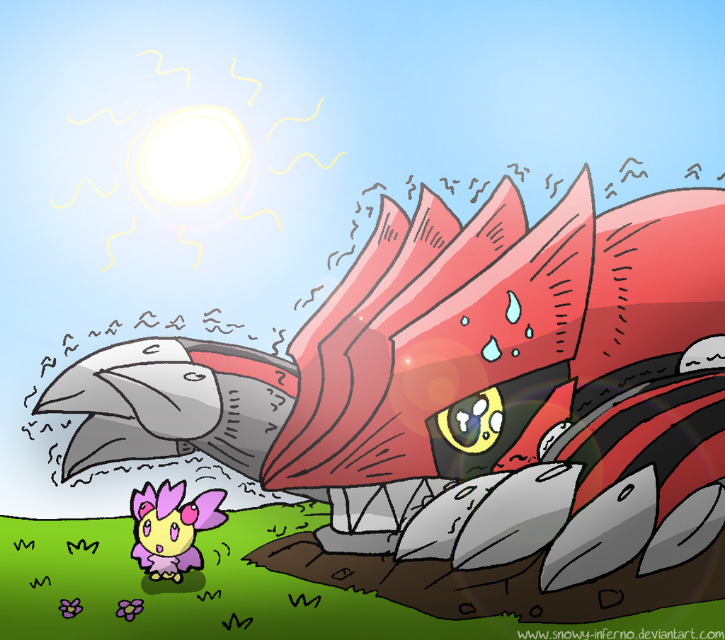 Groudon and Cherrim by snowy-inferno on DeviantArt
