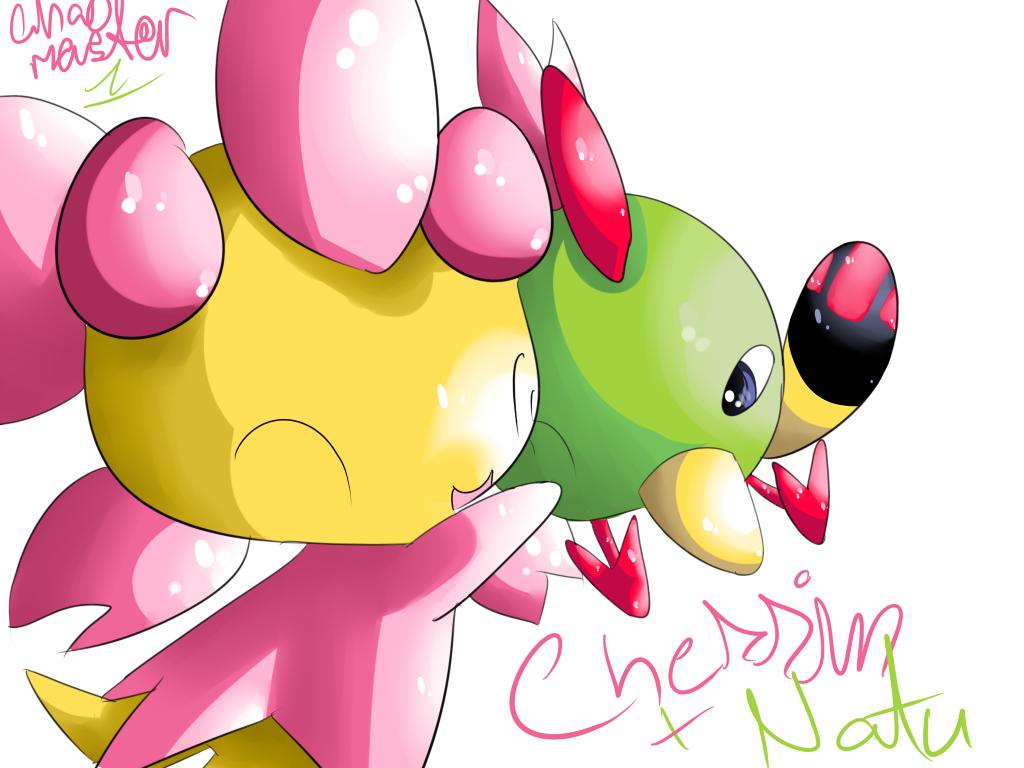 Cherrim and Natu by Chaomaster1 on DeviantArt