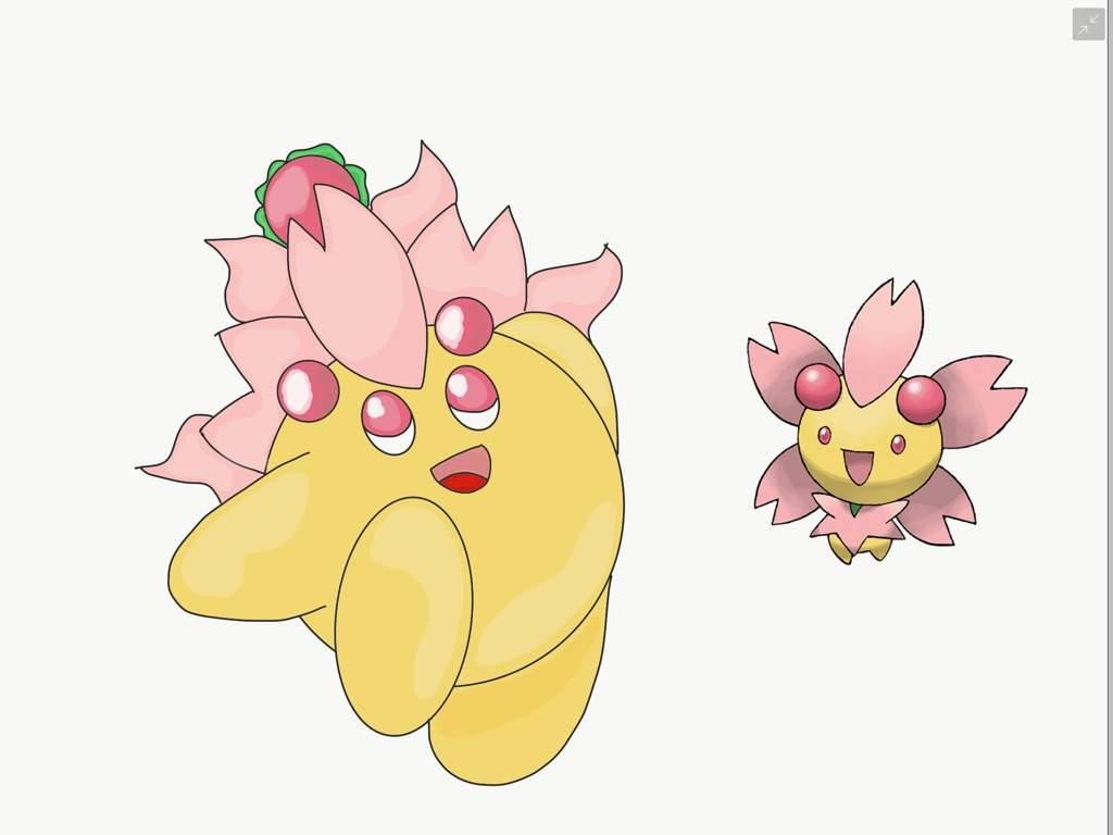 Cherrim Kirby!   Pokémon Amino