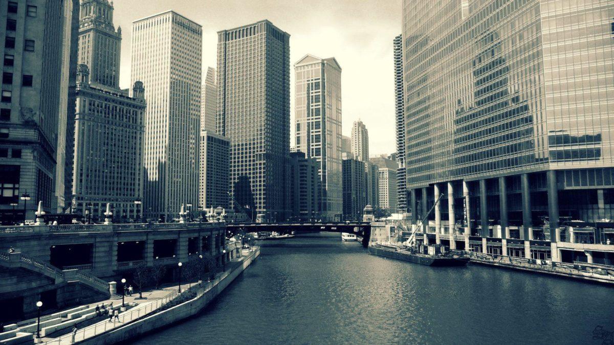 Chicago at Night Wallpaper | Theme Bin – Customization, HD …