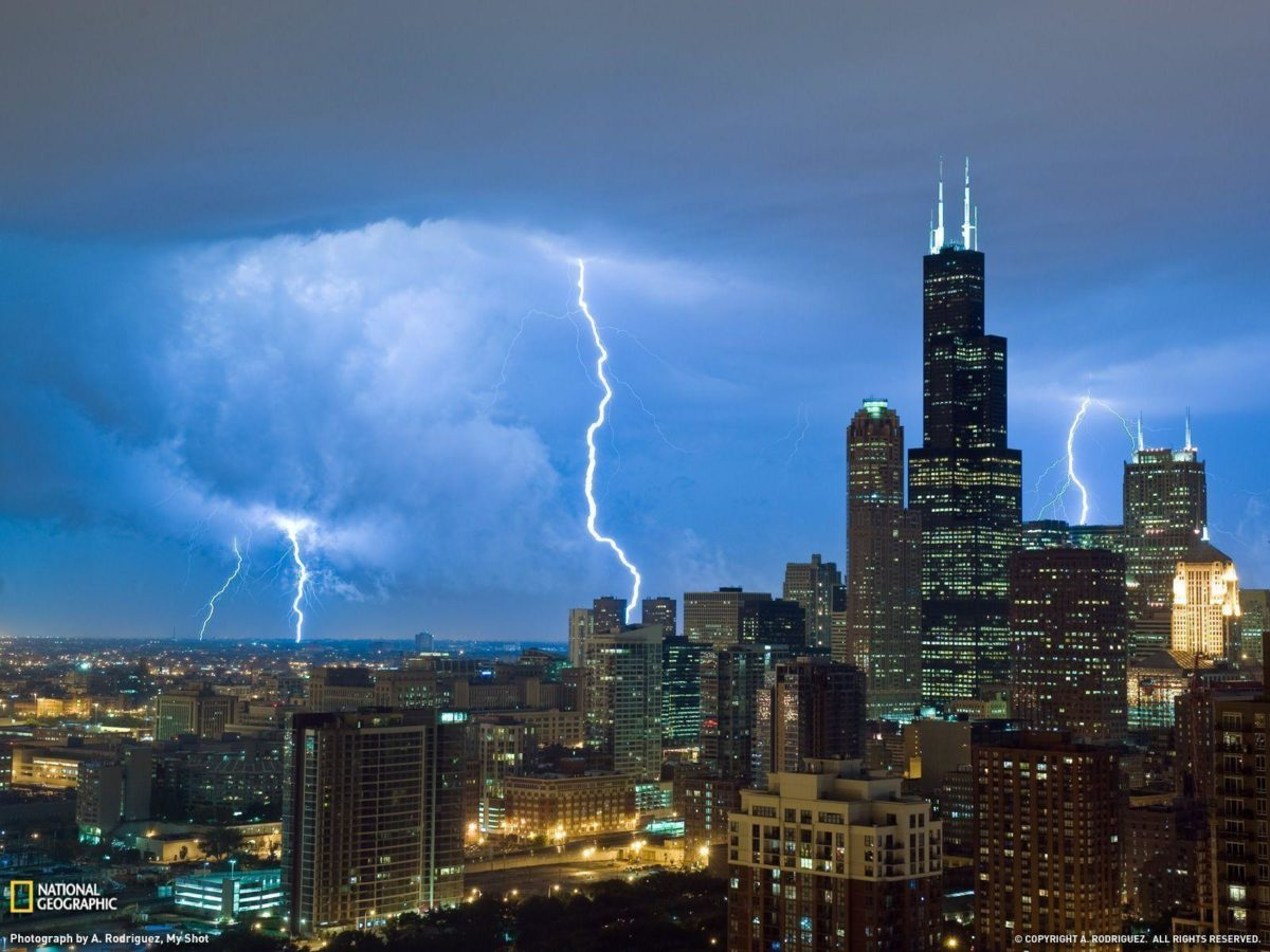 Lightning, Sears Tower Photo, Weather Wallpaper – National …