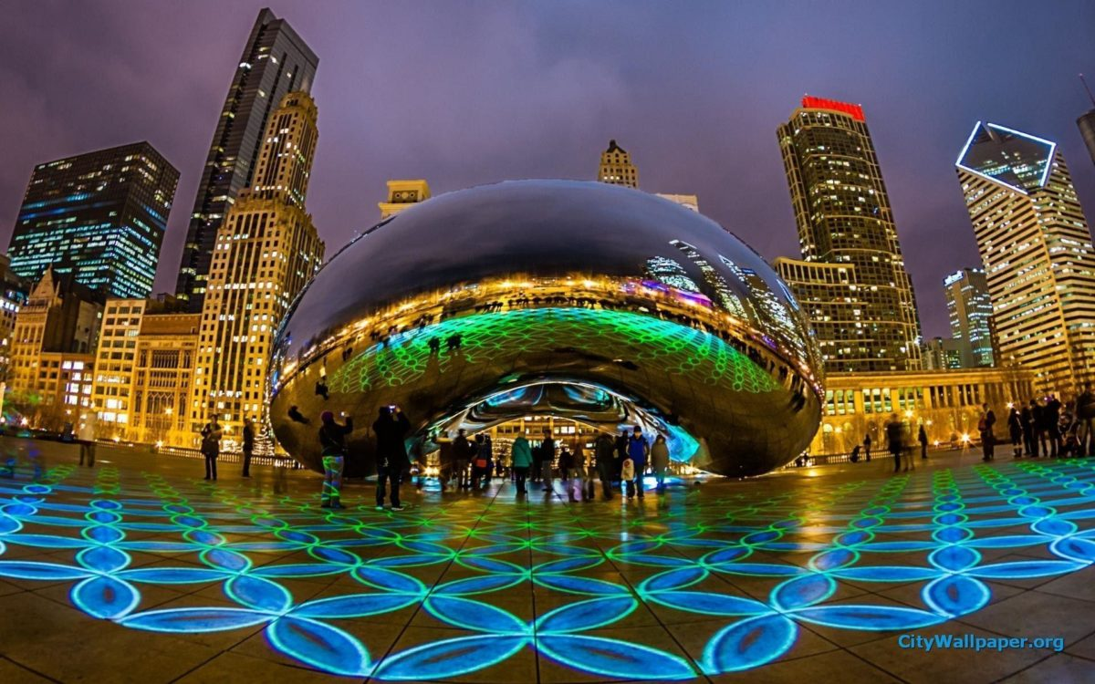 Images For > Chicago At Night Wallpaper