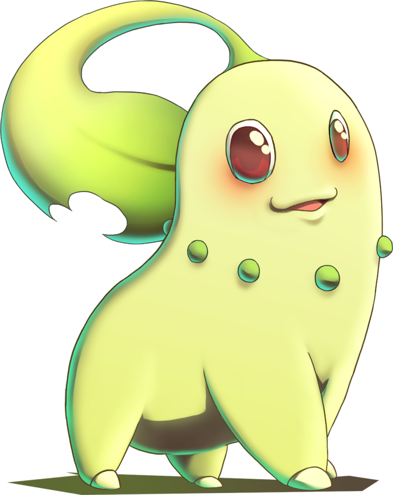 Chikorita from Pokemon Gold and Silver by MatsuoAmon on DeviantArt