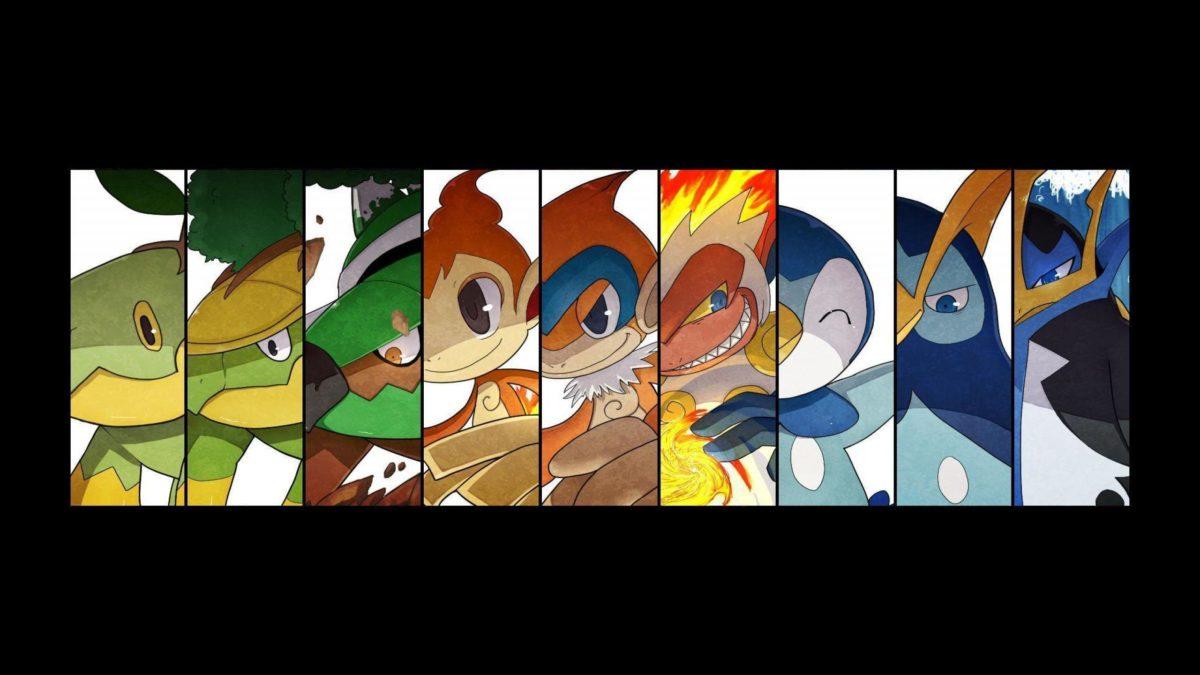 chimchar   2560×1440 Pokemon Turtwig Grotle Torterra Chimchar …