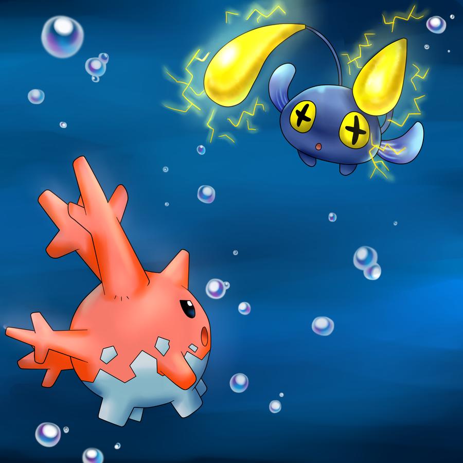 Corsola vs. Chinchou by *AderiAsha on deviantART | Pokemon …