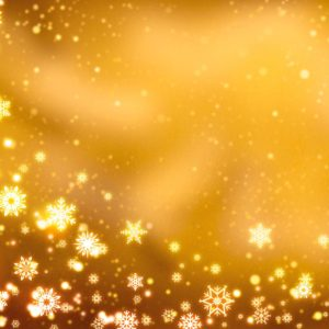 download Yellow Christmas Background with Snowflakes Wallpaper