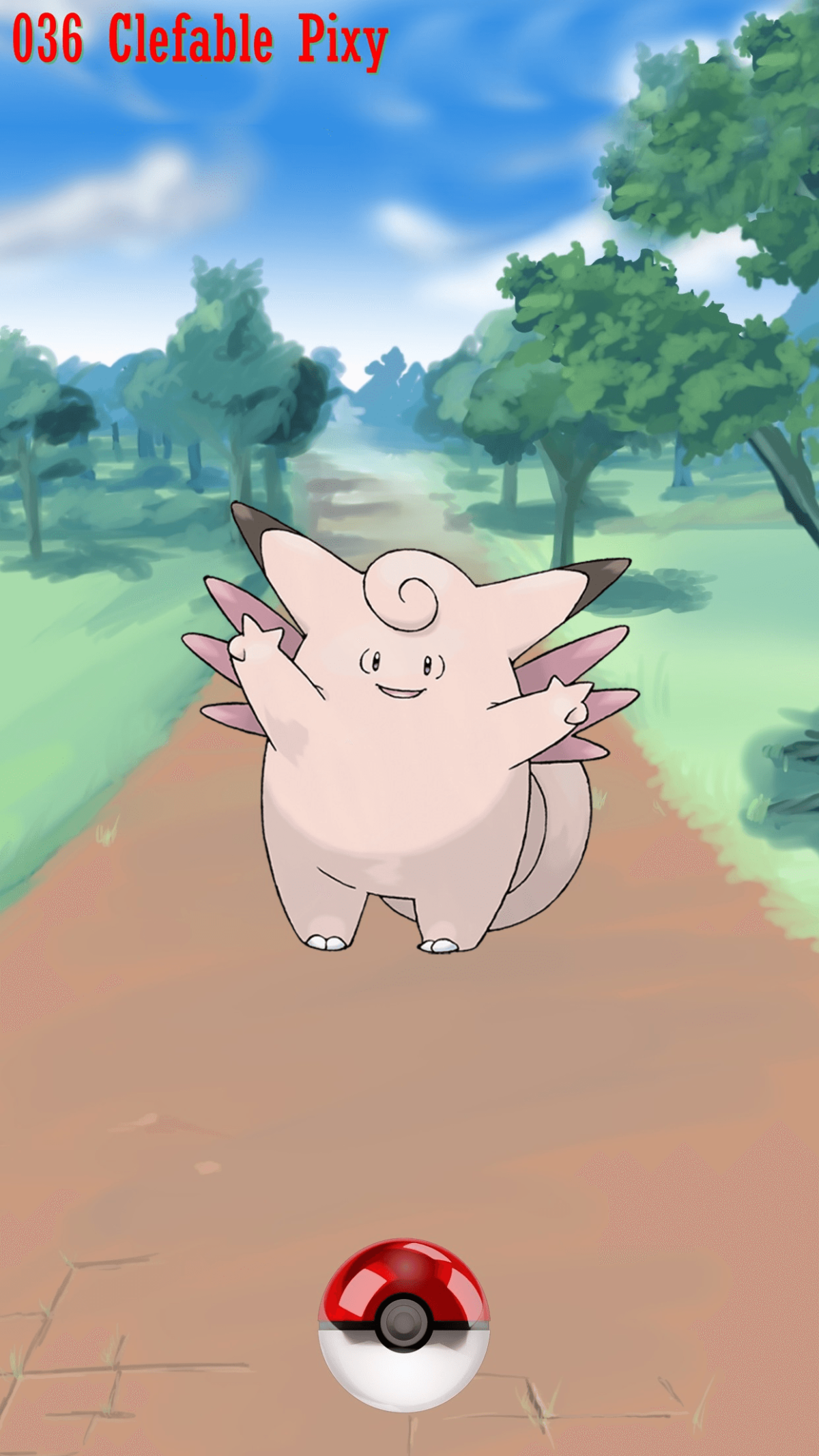 036 Street Pokeball Clefable Pixy | Wallpaper
