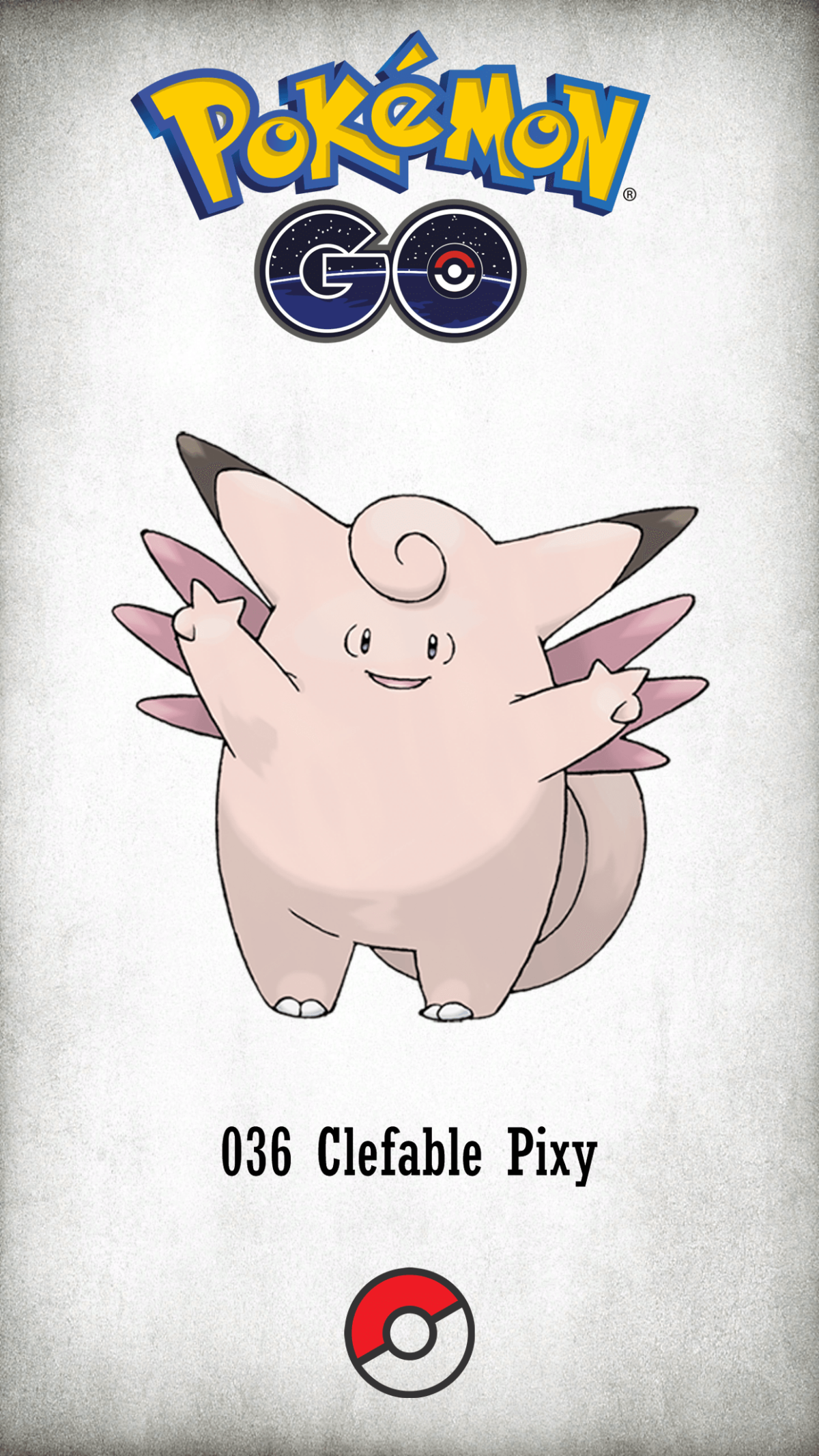 036 Character Clefable Pixy | Wallpaper