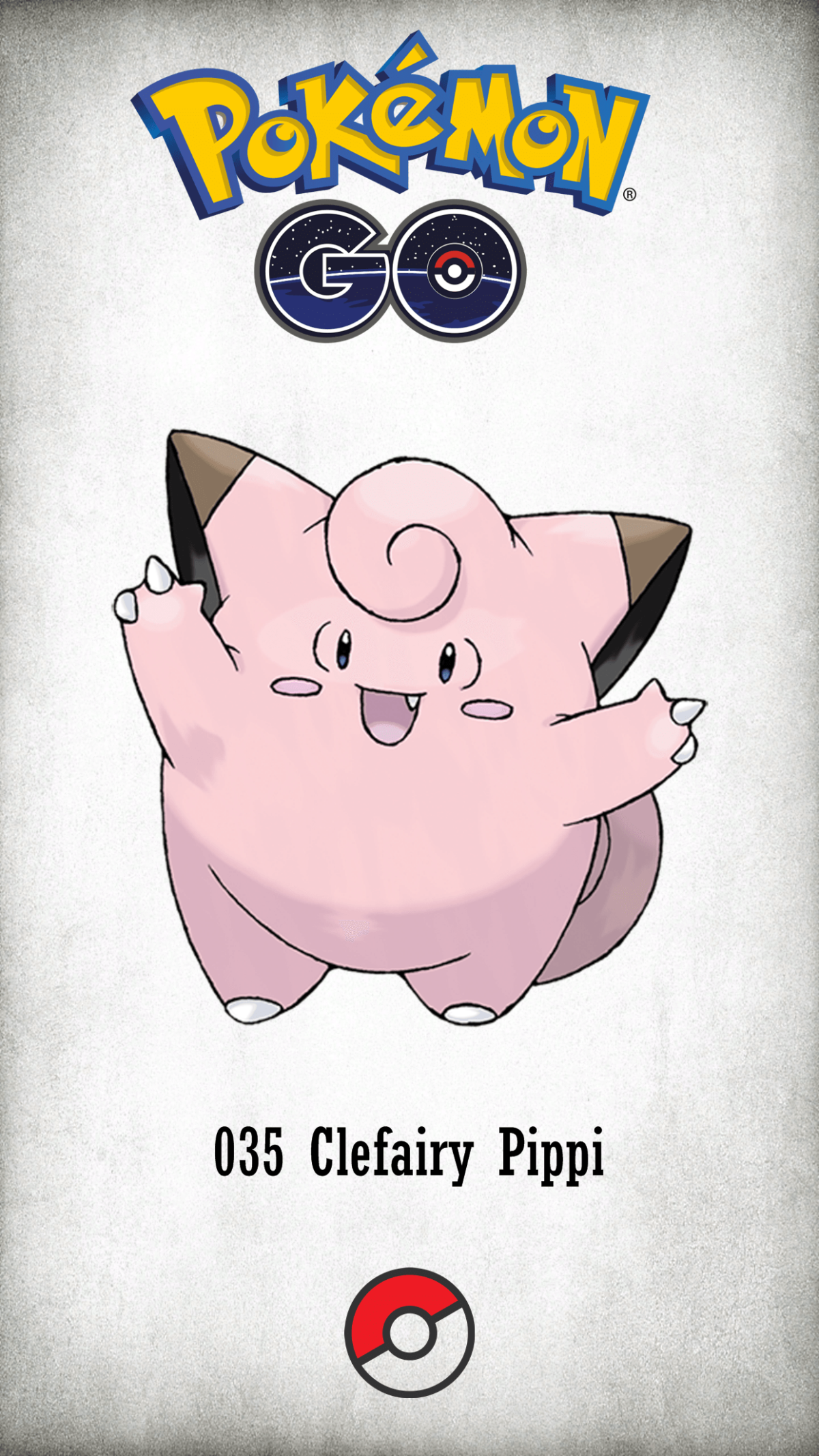 035 Character Clefairy Pippi | Wallpaper
