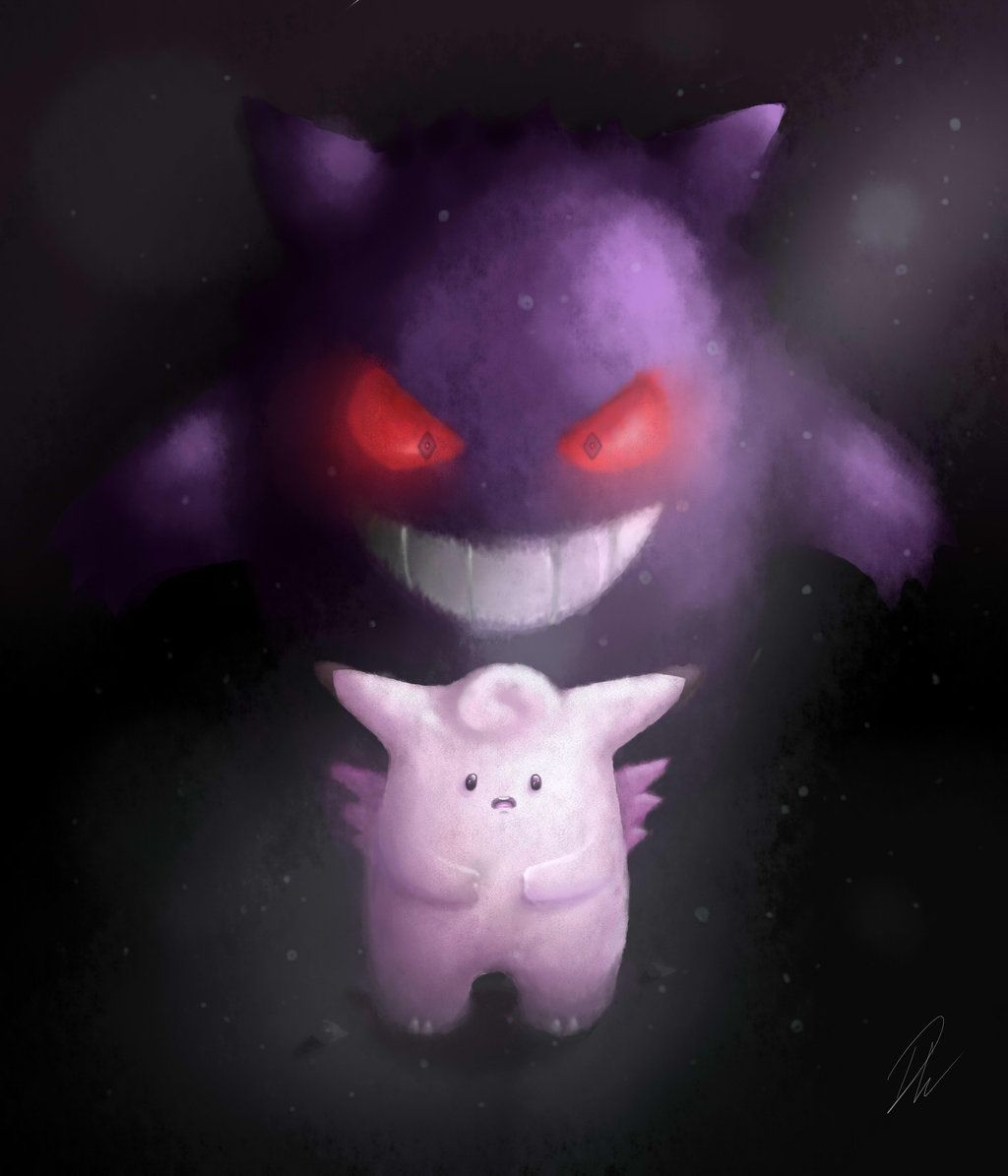 Clefable and Gengar by SolarCookie on DeviantArt