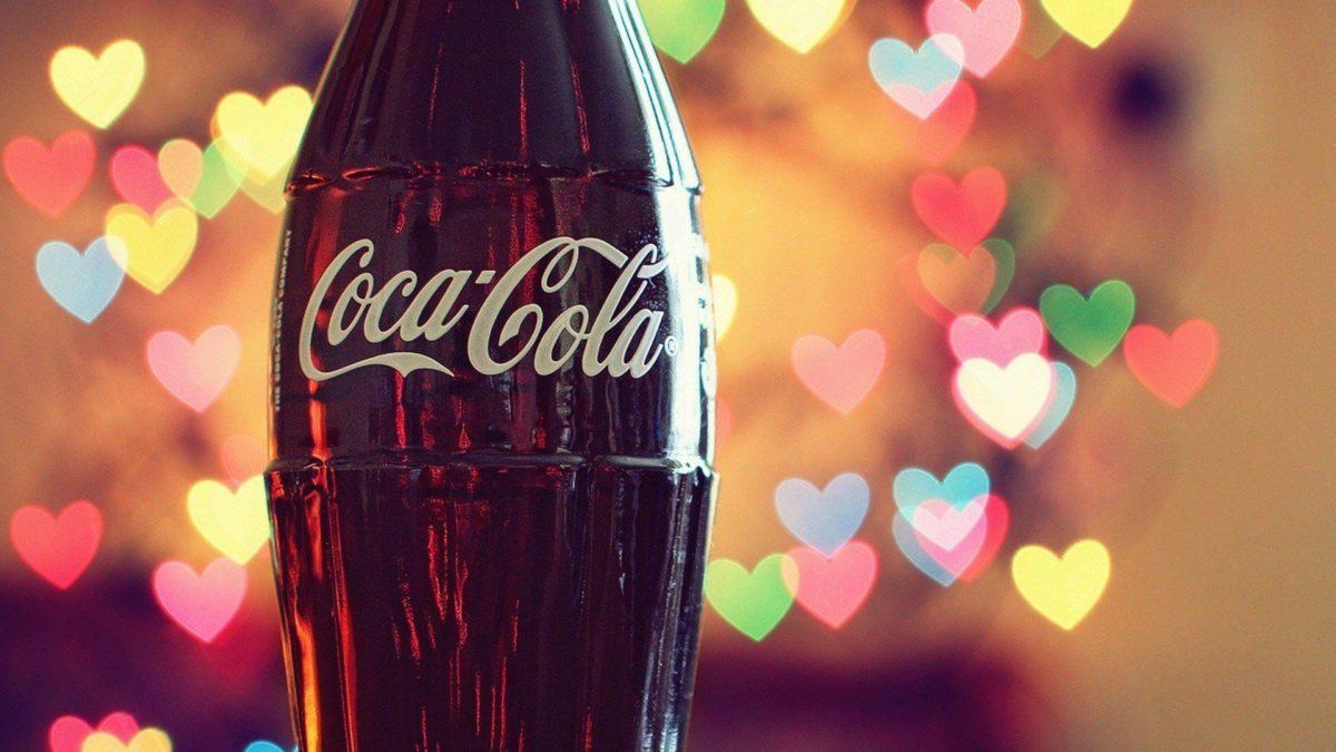 Love Coca-Cola Hearts Lights Photo HD Wallpaper Desktop …