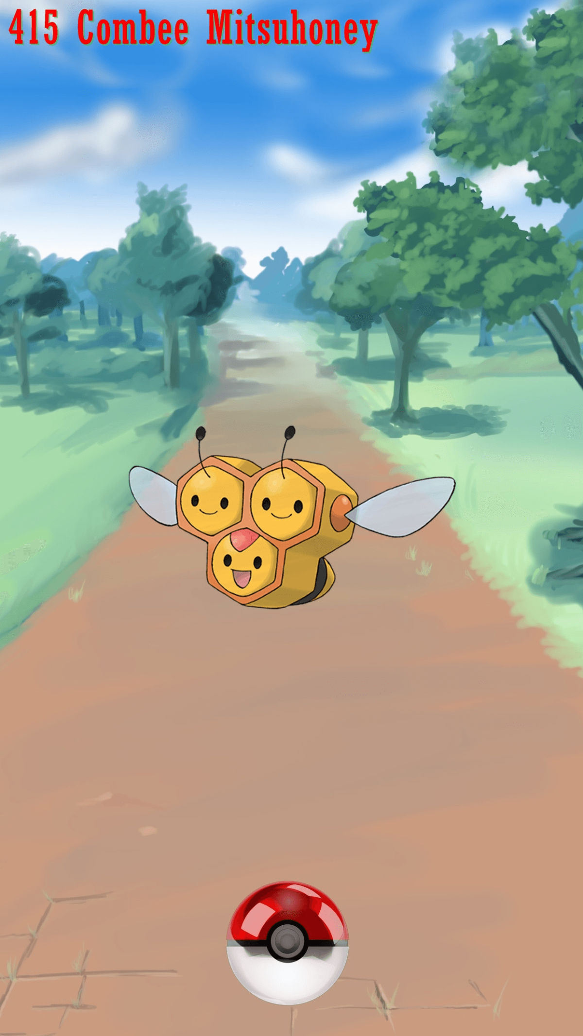 415 Street Pokeball Combee Mitsuhoney | Wallpaper
