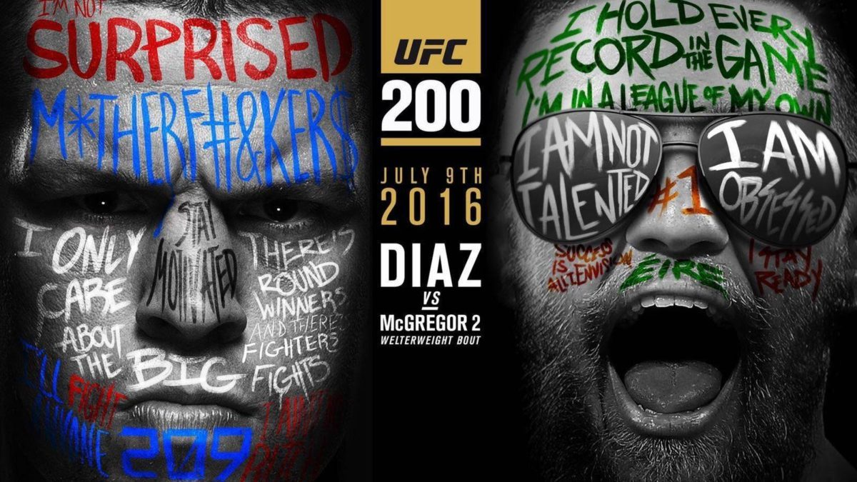 Conor McGregor, #Nate Diaz, #UFC, #mma, #fighting, #poster …