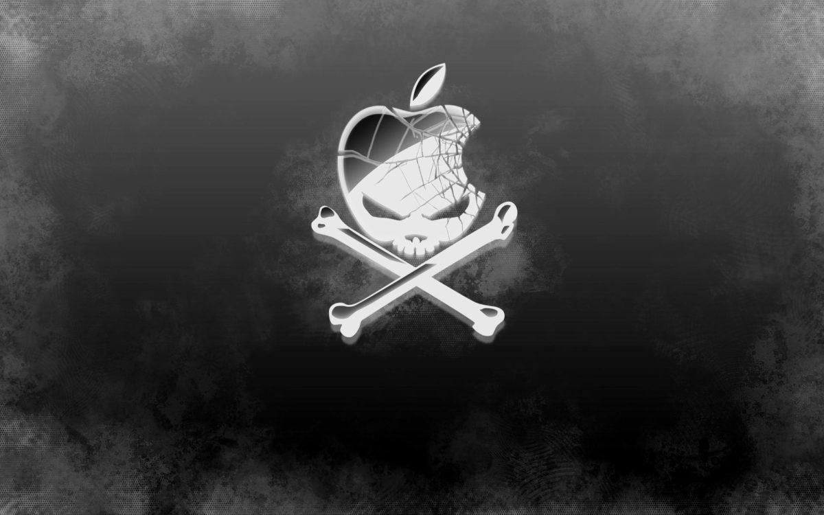 Apple Skull Logo Download Cool Silver Skull Apple Logo Wallpaper …
