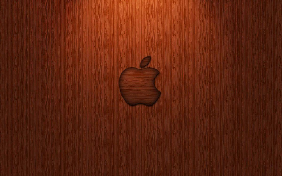 Orange Apple logo Wallpaper – Designer Wallpaper