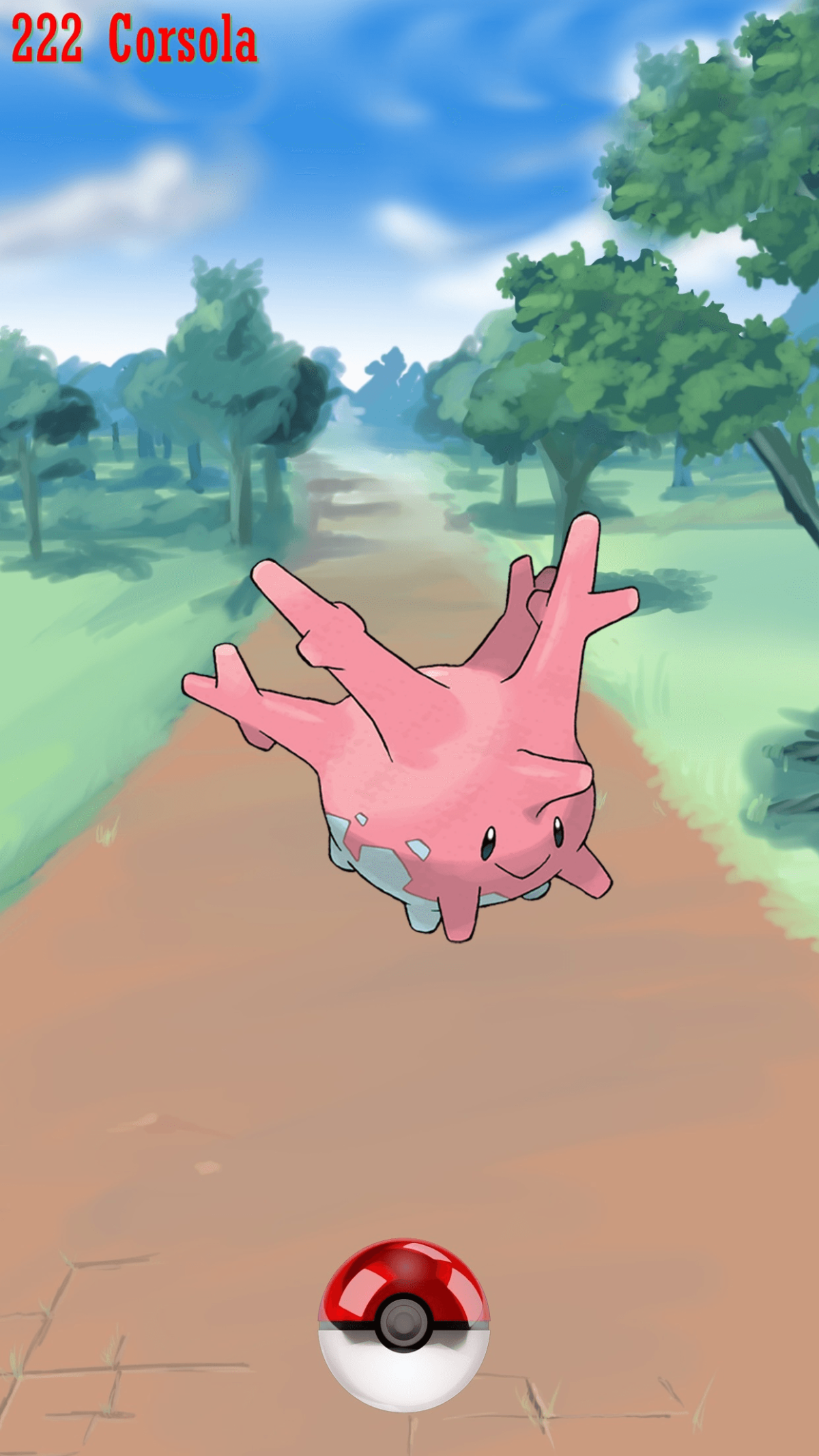 222 Street Pokeball Corsola | Wallpaper