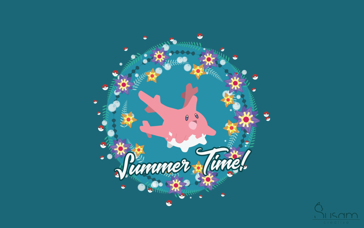 July 2017 Wallpaper – A Pokemon Summer – Susam Creative