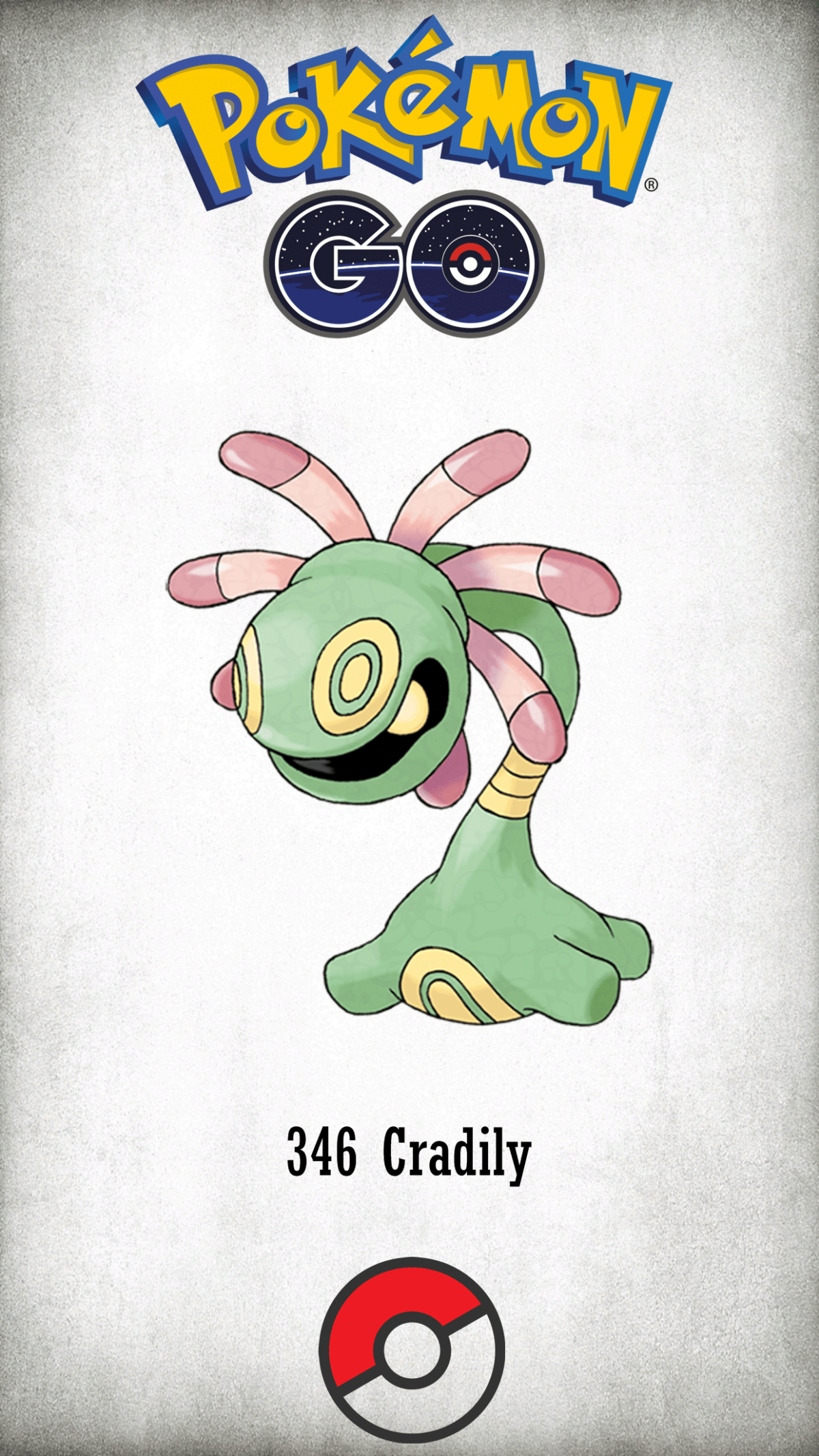 346 Character Cradily | Wallpaper