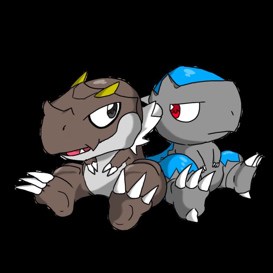 Pokemon- Tyrunt and Cranidos by AlphaMoonlight on DeviantArt