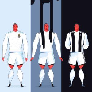 download Ronaldo cartoon Juventus