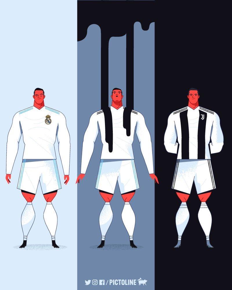 Ronaldo cartoon Juventus