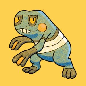 download OC] Croagunk drawn in Pokemon Art Academy : pokemon