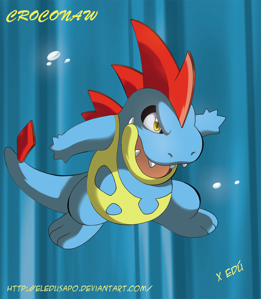 Croconaw by x-Edu on DeviantArt