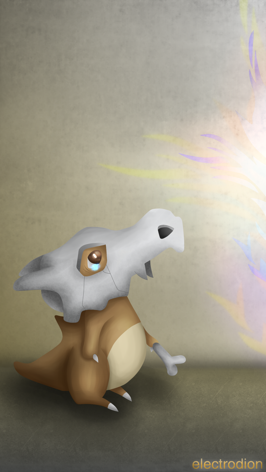 Remake: Cubone Smartphone Wallpaper [QHD] by electrodion on DeviantArt